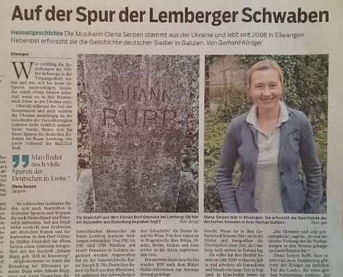 Olena Serpen, Buchpräsentation in Karlsruhe. Verein Ukrainer in Karlsruhe unterstützt.