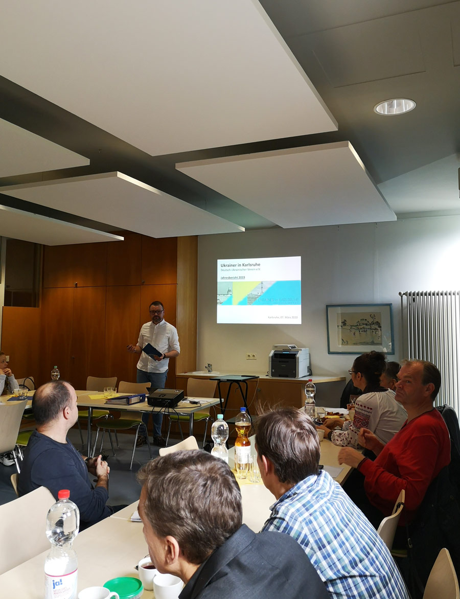 Mitgliederversammlung 2020. Verein Ukrainer in Karlsruhe