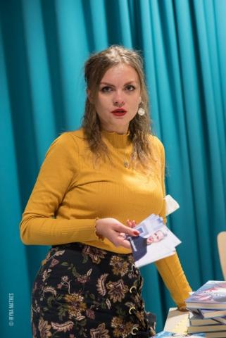 Literaturabend mit Kseniya Fuchs, ukrainische Autorin. Organisiert von der Verein Ukrainer in Karlsruhe