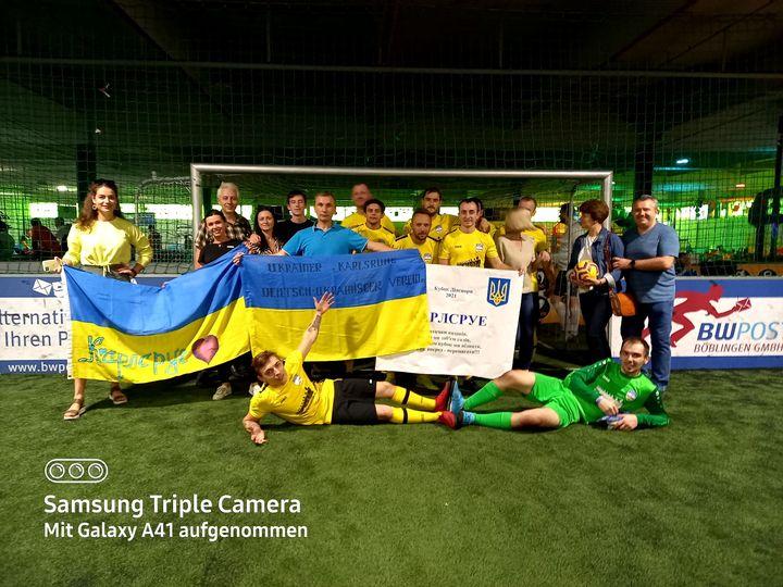 Diaspora Cup 2021. Verein Ukrainer inKarlsruhe